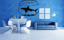 Fish Shark In Aquarium Ocean Marine  Mural Wall Art Decor Vinyl Sticker z756