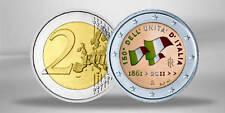 2 EURO MONETA COMMEMORATIVA 2011 Italia 150 anni colore associazione