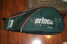 Prince Triple Threat Tennis Bag - Black Green & Orange Dual Racket Bag & Storage