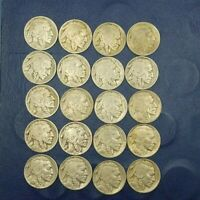 5(EACH) FULL DATE  BUFFALO NICKELS FROM THE  20s AND 30s 5 COINS