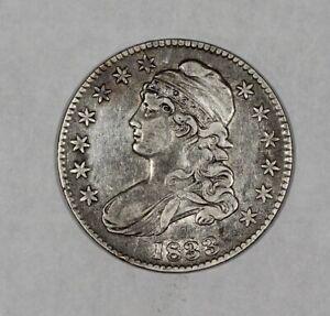 1833 50c Silver Capped Bust Half Dollar