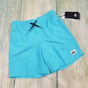 New QUIKSILVER sz M/12 big boys mesh lined everyday volley swimmer shorts JH131