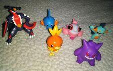 Lot of 6 Tomy Pokemon Figures Gengar Torchic Mudkip Garchomp Spritzee Marshtomp