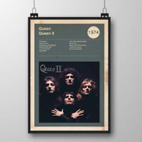 Queen Poster, Album Cover Print, Rock Band Poster, Freddie Mercury Art Print