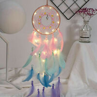 Home Decoration Wall Hanging Dream Catcher Wind Chimes With Night Light