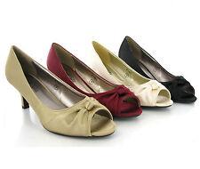Kitten Heel Spot On Satin Court Shoes for Women