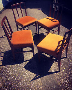 Younger Teak Dining Chairs Vintage Mid Century MCM X4