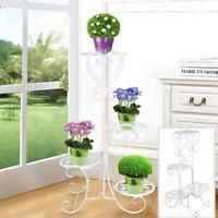 4 Tier Plant Stand Metal Outdoor Indoor Garden Decor Flower Rack Wrought Iron