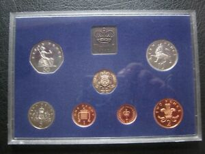 UK British 1982 Proof Coin Collection Set: 1/2 - 50 Pence ~ Cased By Royal Mint