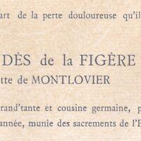 Marie-Antoinette De Montlovier Philippe Lahondès De La Figère Hyères Var 1902