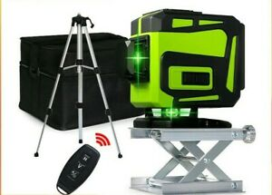3D 12 Lines Green laser 360 Degree Rotary Self leveling Auto level & Tripod