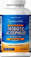 250 PROBIOTICS Acidophilus LACTOBACILLUS Capsules Men Women - Puritan's Pride