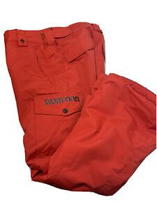 Burton Kid's Medium (8-10) Orange Ski Pants DryRide Room to Grow Zip Pockets