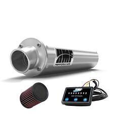 HMF Performance Slip On Exhaust Pipe Muffler Brushed + EFI + K&N Brute Force 750