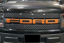 Ford F150 SVT Raptor 2010-2014 Custom Vinyl Decal Grille Letter Overlay - Orange