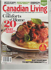 CANADIAN LIVING 2013 ESSENTAIL SLEEP TIPS 20 EASY SLOW COOKER RECIPES DIGESTION