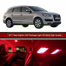 18x For Audi Q7 2007-2013 Red Error Free Light Bulb Car LED Interior Package Kit