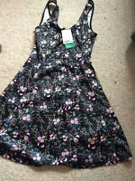 H&M Ladies Girls Floral Strap Dress Size 8 Bnwt