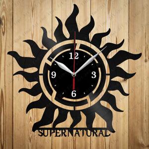 Vinyl Clock Supernatural Original Vinyl Record Clock Home Decor Handmade 4896