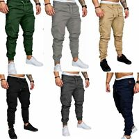 Mens Slim Fit Pants Sport Pants Long Trousers Fitness Workout Joggers Sweatpants
