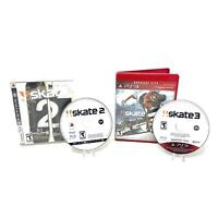 Skate 2 & 3 (Sony PlayStation 3 PS3, 2009) CIB Complete in Box Tested Skateboard