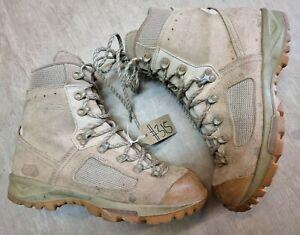 Original British Army Issue Leather Lowa Desert Combat Boots Size 8.5 UK #315
