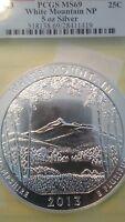 2013 PCGS MS69 First Strike ATB 5oz Silver Coin White Mountain National Park