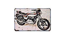 Ducati 500 Desmo Motorbike Sign Metal Retro Aged Aluminium Bike