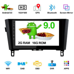 """10.1"""" GPS Android 9.0 Pie Fit For Nissan Qashqai X-Trail Rogue 2014-2018 Cae"""