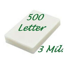 500 Letter Laminating Pouches Laminator Sheets 9 x 11.50 3 Mil Scotch Quality