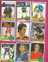 25 X 1980-81 OPC NHL PLAYERS CARD INCL EDWARDS SMITH JOHNSON RC  (INV# C8739)