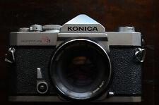 Konica Autoreflex T3 fotocamera + obiettivo Hexanon AR 50mm 1:1.7