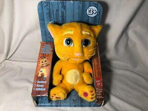 "Talking Ginger Talk Back Plush Cat Orange Kitty 8"" Dragon-i Toys NEW WORKS NIB"
