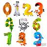 Tier Zahlen Folienballon Luftballon Ballon Kindergeburtstag Party Happy Birthday
