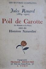 Renard Poil de carotte (le roman et la pièce), suivi de Histoires naturelles