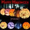 Halloween papier citrouille suspendue LED lanterne fête de fête décoration 4type
