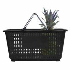 "Hubert® Black Plastic Shopping Basket 32 Liter - 20""L x 14""W x 9 3/8""D"