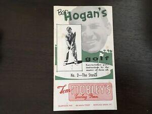 Ben Hogan's Vintage 1st Edition 1953 #2 The Stance Golf Instruction Booklet