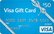 $50 Vanilla Gift Card or Similar. Card Activated. Free Super Fast Shipping
