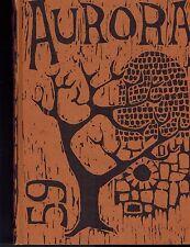 1959 Aurora Eastern College Ypsilanti, Michigan Year Book