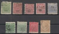 D3038/ BRITISH FIJI – 1872 / 1899 – USED CLASSIC LOT – CV 390 $