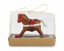 Mud Pie ROCKING HORSE KEEPSAKE 1st TOOTH & CURL Ceramic Holder