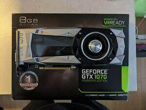EVGA GeForce GTX 1070 Founders Edition, 08G-P4-6170-KR, 8GB GDDR5, VR READY