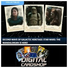 Topps Star Wars Card Trader The Mandalorian Galactic Heritage Wave 2 Set of 11