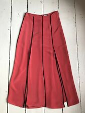Coral Silk Maxi Skirt Size Small UK 10 - Moka London