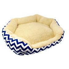 ALEKO Plush Round Dog Pet Bed with Extra Tall Sides 18 x 22 inches