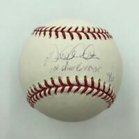 """Derek Jeter """"First Grand Slam 6-15-05"""" Signed Inscribed MLB Baseball Steiner COA"""