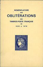 Catalogue  des Oblitérations des timbres poste français:petits et gros chiffres