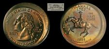 1999-P 25C Delaware PCGS MS65 Strk 10% O/C (Toned State Quarter Mint Error)