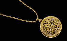 Osmanli Kolye Tugra Anhänger inkl Kette Türkische Gold Münze 24 Karat vergoldet